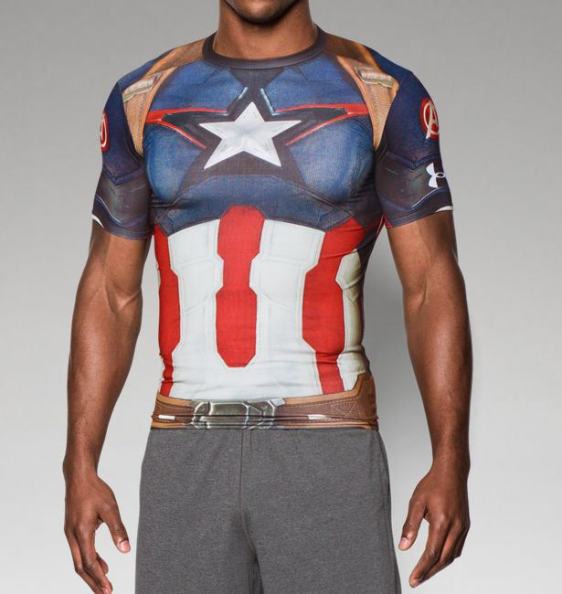 More under armour avengers age of ultron shirts revealed for Hulk under armour compression shirt