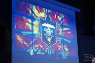 The manila cup logo up on the big screen!