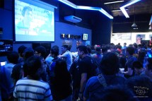 The second day very quickly became standing room only, with everyone excited about the action.