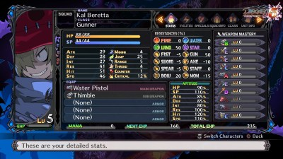 Disgaea 5 status screen