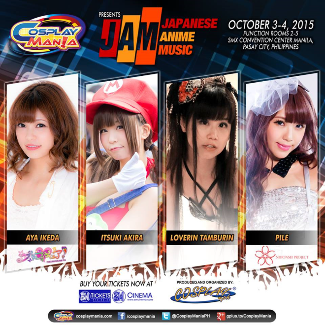 cosplaymania 15 musical guests