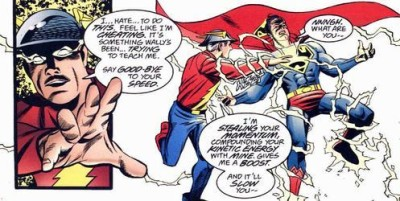 He's even done it to Superman, once stealing his speed to save Wally West.