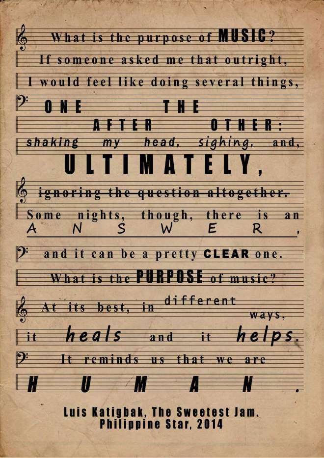 Luis Katigbak Quote Music