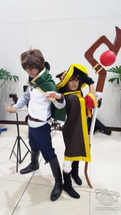 EXPLOSION!!! Megumin (fb.com/PattyBodie) and Kazuma (fb.com/JomarEstrella01)