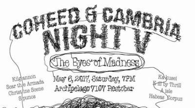 Coheed & Cambria Night V, c/o TONO Events (Geek Events May 2017 Philippines)