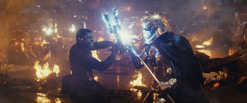 Finn versus Captain Phasma in Star Wars: The Last Jedi