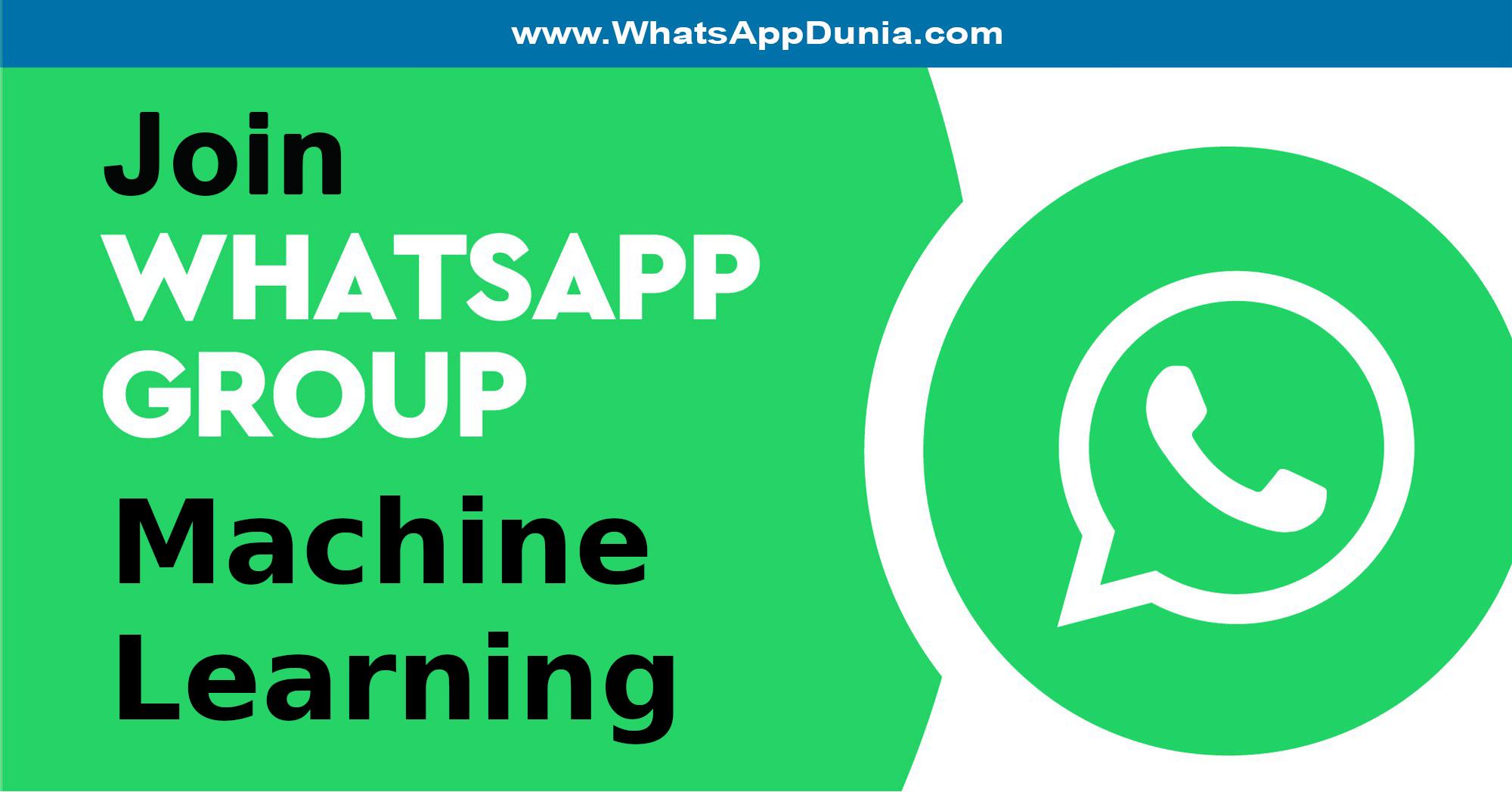 Machine Learning WhatsApp Group Links