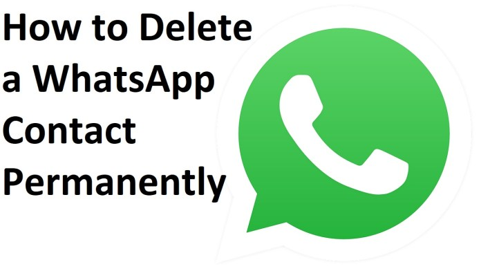 How to delete a WhatsApp contact permanently