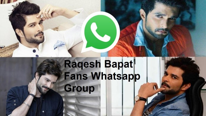 Raqesh Bapat Fans Whatsapp Group Link