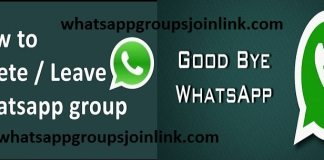 how to remove (leave) your self from whatsapp group?