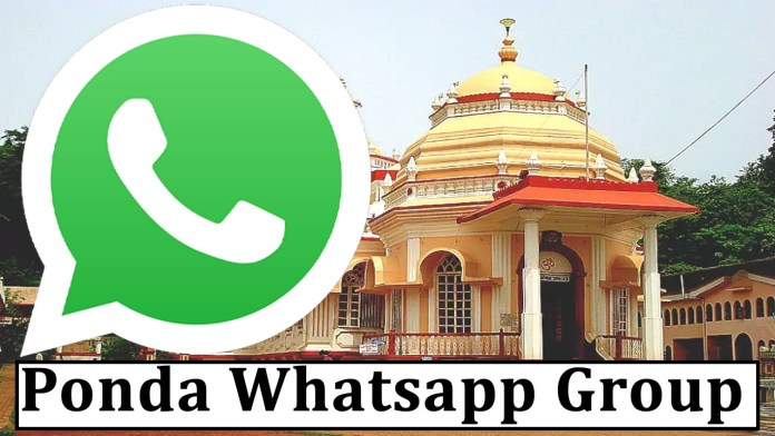 Join Ponda Whatsapp Group Link