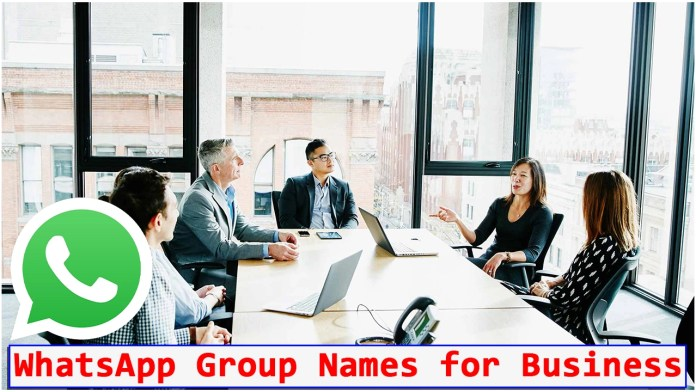 WhatsApp Group Names for Business