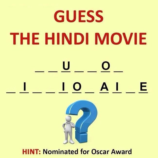 Guess Hindi Movies Whatsapp Puzzle .. whatsapp quiz, Bollywod Puzzle,
