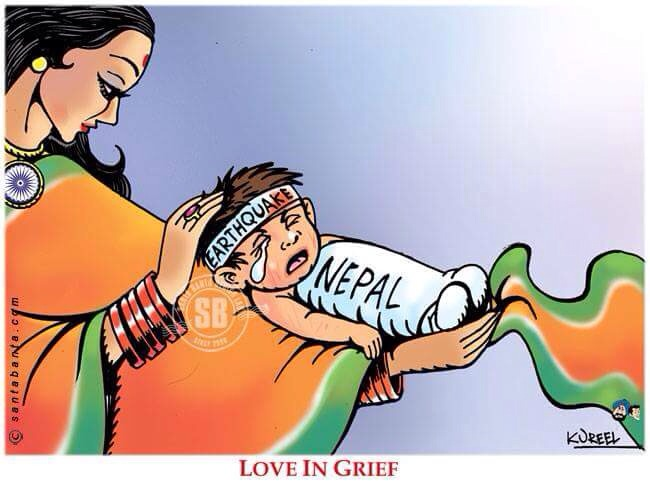 One perfect picture describe Relationship between India and Nepal