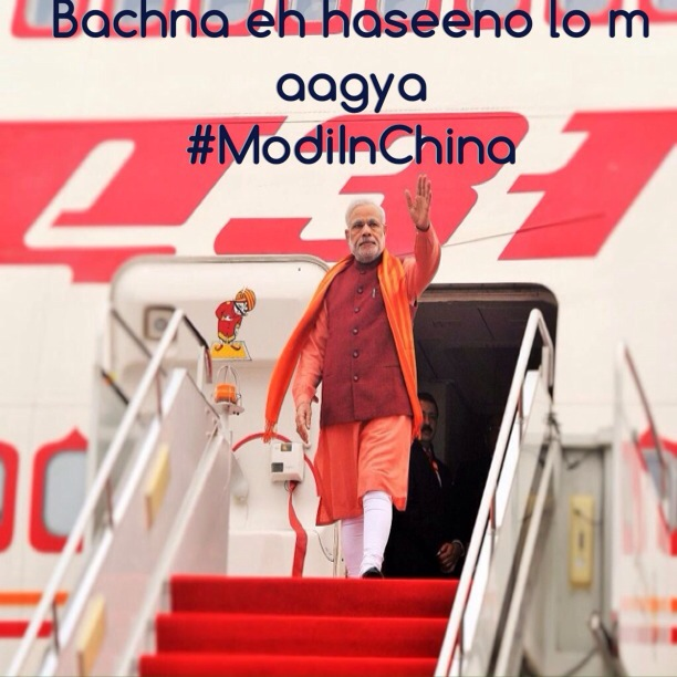 Latest Modi in China funny pictures and Meme !!