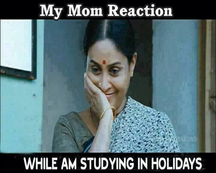Best Indian Parents funny meme and Trolls !!! Indian Mom reaction : While Im studying in Holidays