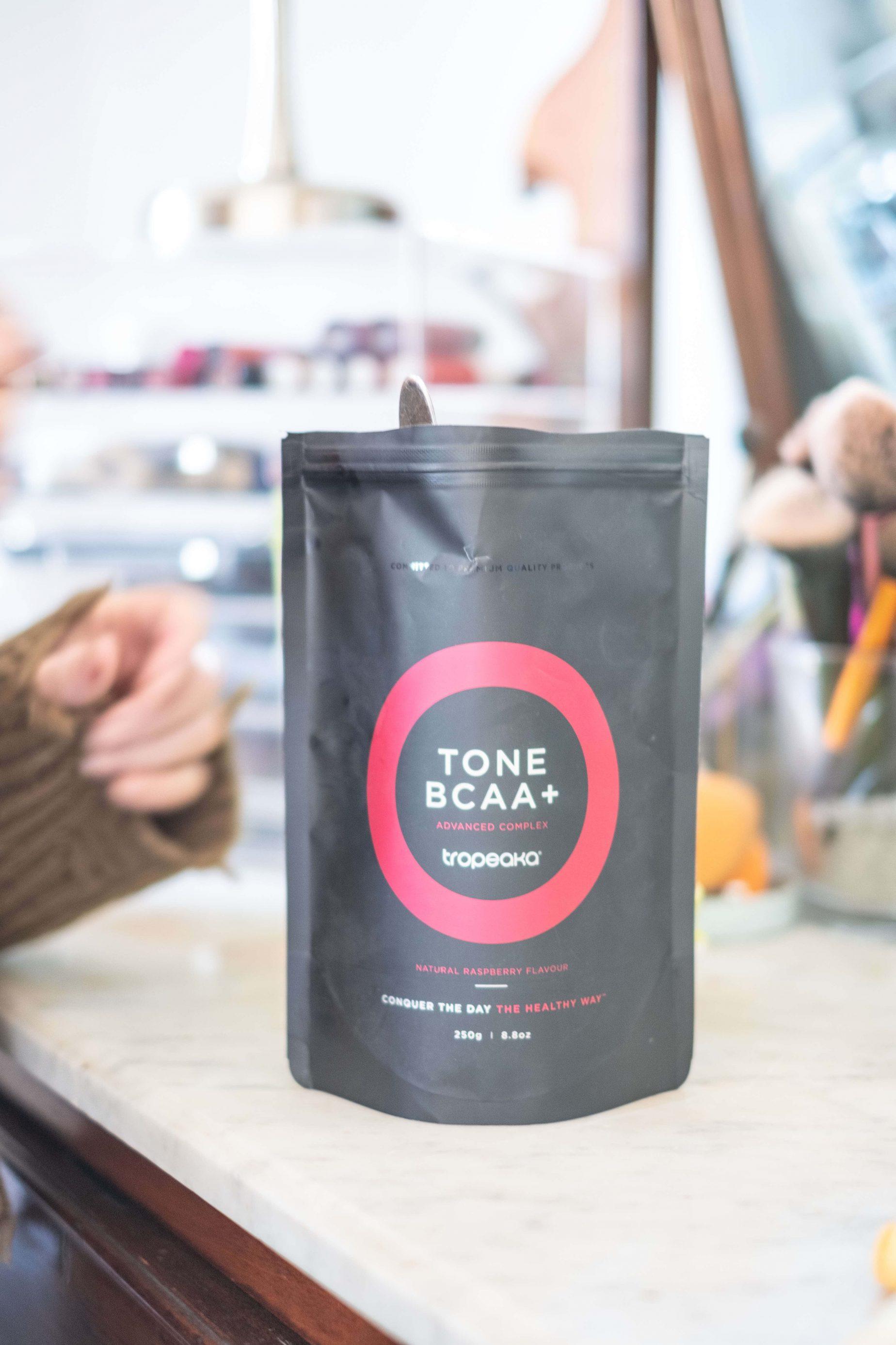 Tropeaka Tone BCAA Review- Do They Really Work- #whatsavvysaid #tropeaka #tropeakabcaa #cleaneating #tonebcaa #raspberry #tropeakareview #fitnessgoals #blenderbottle