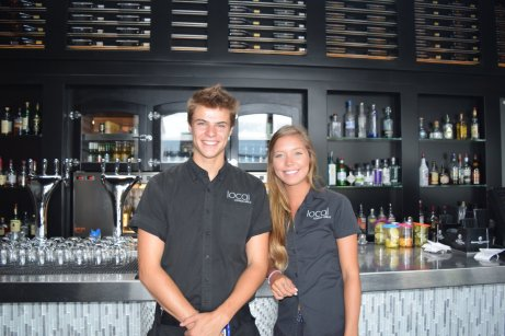 Spencer and Tianna welcome you to Local Lounge + Grille, Summerland BC