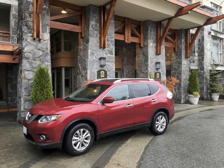 Avis Nissan Rogue at the Pan Pacific Whistler Mountainside