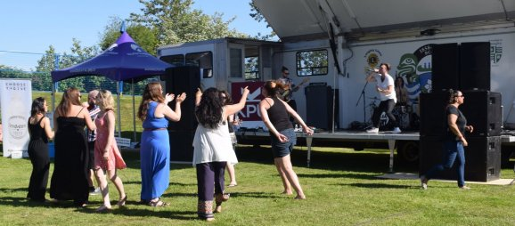 Dancing--at a beer fest!
