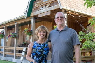 Merridale Cidery owners Janet and Rick