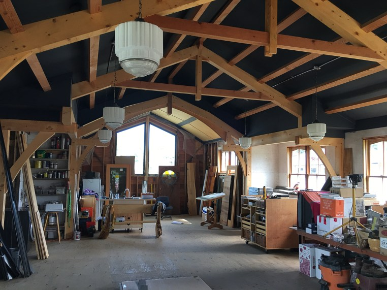 Interior construction of Ucluelet Brewing