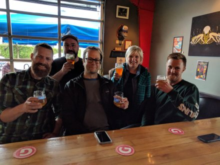 A chance meeting with the lads from Brassneck Brewery at Portland's Gigantic Brewing Company.