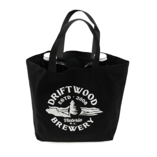 Driftwood growler tote
