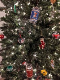 Core brands adorn the tree at Farm Country Brewing
