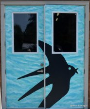 The Locality swallow motif adorns their doors
