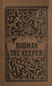 An elaborately engraged leatherbound cover shows the title of the story and illustrations indicating overgrown and somewhat wild greenery
