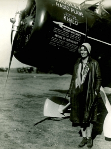 Ruth Nichols in front of her plane