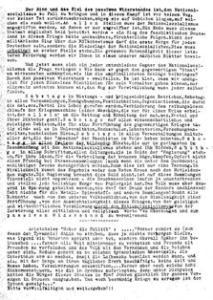 A typwritten document in German.