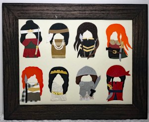 Paper portraits of women's history warriors by Paper People Portraits