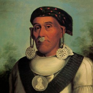 Portrait of Chief Lowery, Cherokee America's great-uncle