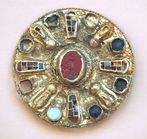 Quedlinburg gold disc, inlaid with precious stones