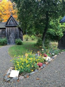 The Little Women garden at Orchard House