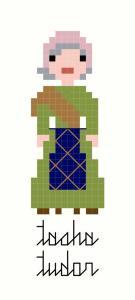 Tasha Tudor custom cross-stitch pattern