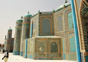 The shrine of Imam 'Ali at Mazar-e Sharif, Afghanistan