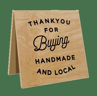 what-she-said-creatives-shop-local-sign