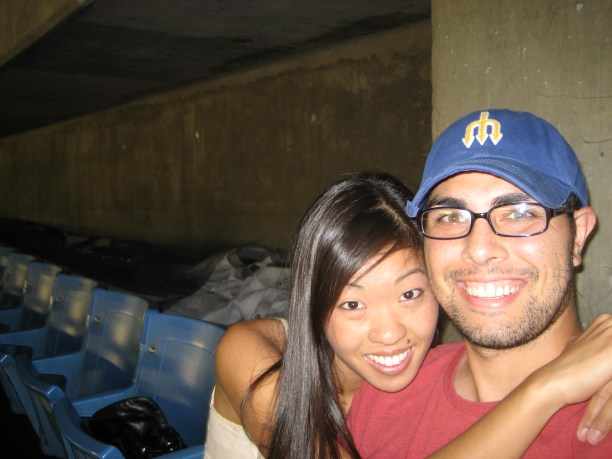 We're in the very last row at Blue Jay's Stadium...but we had fun!