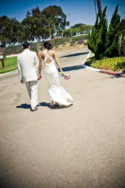 Courtesy of Orange Turtle Photography...our wedding only made The Knot: Southern CA magazine because they're AWESOME.