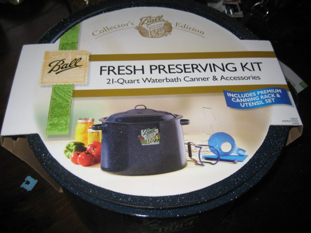 The canning kit I bought for the job.