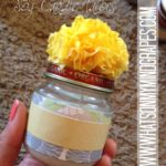 :: DIY Baby Food Jar Soy Candle Favors ::