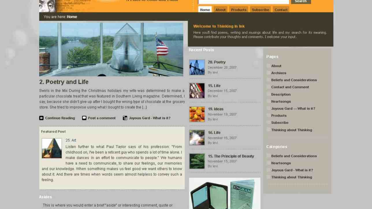 Blog design and development using WordPress