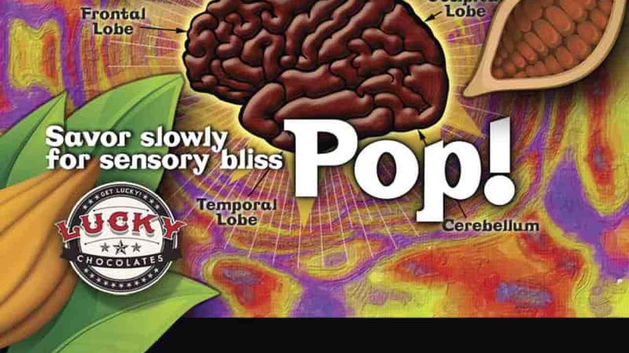 Label design for chocolate pop
