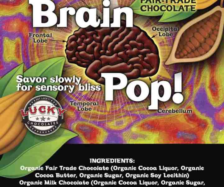 Label design for chocolate pop
