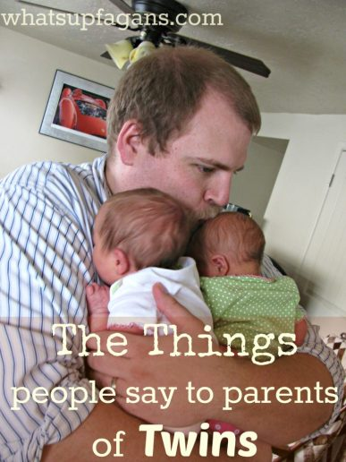 things people say to parents of twins - sometimes people need to realize what they are saying!