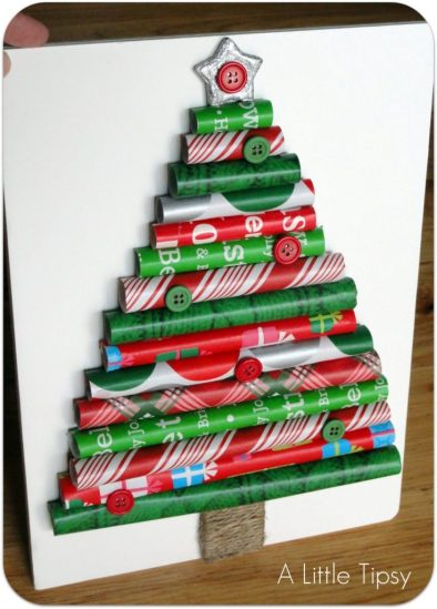 christmas-wrapping-paper-tree-craft