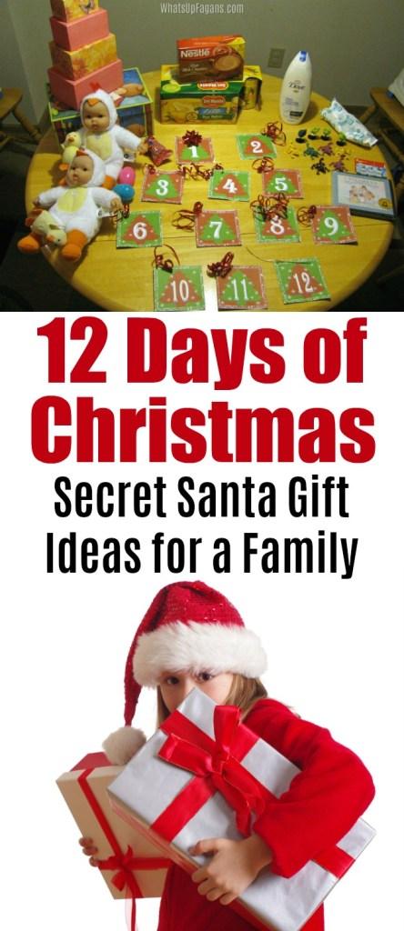 12 days of christmas gift ideas secret santa lds | Mormon | Holiday